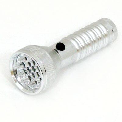 328-061 Фонарик металл со светодиодами 026G-21С 21LED 3R3