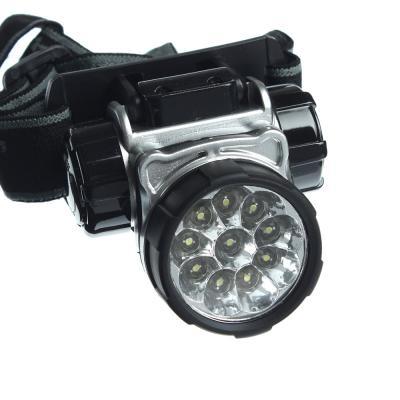 328-071 ЧИНГИСХАН Фонарь налобный 10 ярк. LED, 3xAAA, 6х4,2 см