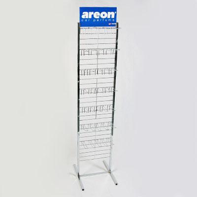 704-058 AREON Стенд металлический 28 крюков, 33x180cм