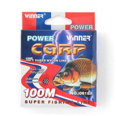 338-888 AZOR Леска winner 0818А Carp размер 0,60 прозрач. 100м