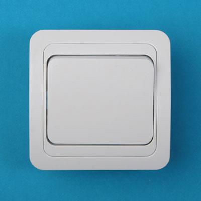 904-010 Выключатель одноклавишный, основание керамика, 10А 250В Classic 2021 PowerMan