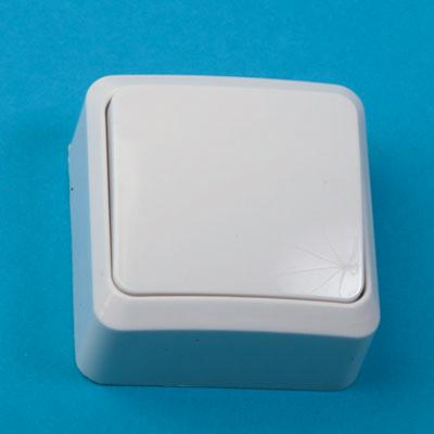 905-029 Выключатель одноклавишный, основание пластик, 10А 250В Fazenda 7021 PowerMan