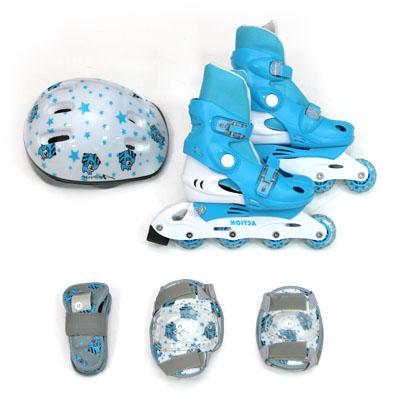 129-276 Action Коньки роликовые дет. с набором защиты (шлем, колени, локти, запяс) р.XS(26-29), PW-129C,гол