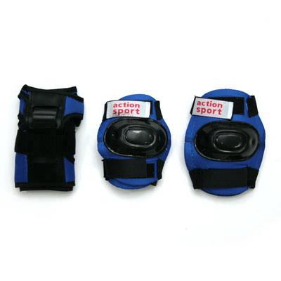 129-364 Action Набор защиты дет. (колени, локти, запястья) р.М, PW-308, черно-синий