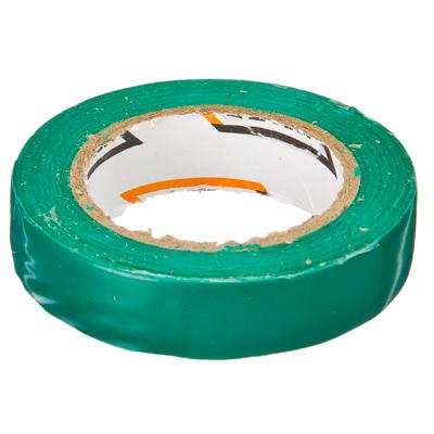 672-004 ЕРМАК Изолента ПВХ в/с зеленая, шир. 15+-2мм, 7,5 м, толщ 0,2мм