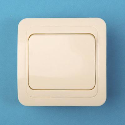 904-091 Выключатель одноклавишный, основание керамика, 10А 250В Classic 2021 (крем) PowerMan