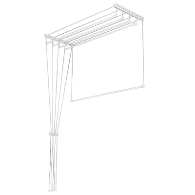 452-029 Сушилка для белья потолочная Лиана 1,4м, 5 линий, белая