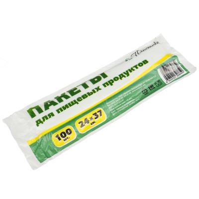 438-001 Пакеты полиэтиленовые для продуктов в рулоне 100 шт, 24x37см