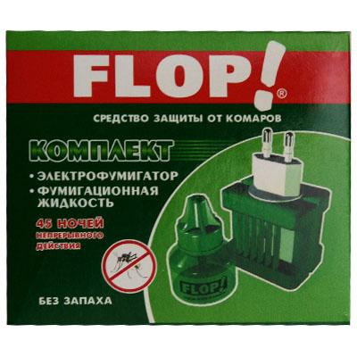 159-033 FLOP Комплект эл.фумигатор универ.+жидкость 45 ночей (арт.402-049)
