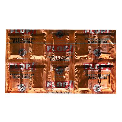 159-044 FLOP Пластины универсальные от мух и комаров по 10шт (арт.402-099)