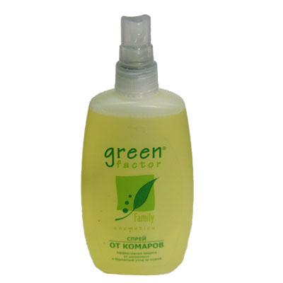 159-047 Green Factor Спрей от комаров флакон 100мл (арт.402-494)