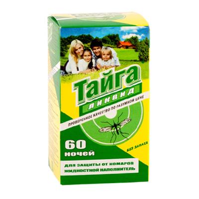 159-048 ТАЙГА Дополнительный флакон жидкости от комаров, 30мл (60 ночей)