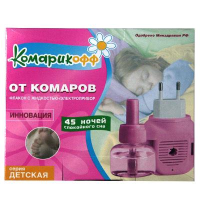 159-054 КОМАРИКОФФ Комплект эл. фумигатор универ.+жидкость 45 ночей (ромашка)
