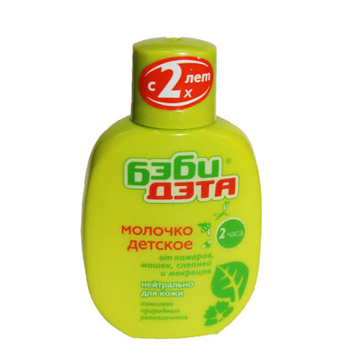 159-066 ДЭТА БЭБИ Молочко от комаров 60мл (с 2-х лет) флакон