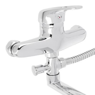566-041 Смеситель для ванны, длинный прямой излив, керамический картридж 40 мм, хром, Klabb 05 211