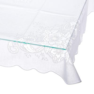 430-013 Скатерть на стол ажурная, пвх, 110x140см, VETTA