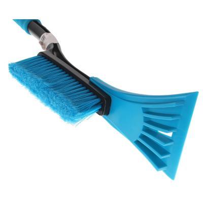 775-124 NEW GALAXY Щетка для уборки снега с распушенной щетиной+скребок, 54см