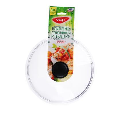 848-314 Крышка для сковороды d.28 см VGP, стеклянная, с ручкой