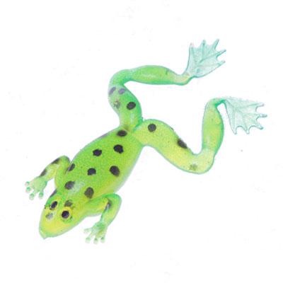 338-104 AZOR Мягкая приманка лягушка CH-D016-2-03, 73мм, 11гр, 5шт в уп, ярко-зелёная