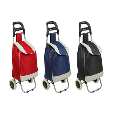 467-005 Тележка + сумка, грузоподъемность до 30кг, брезент, ЭВА, 36х26х94см, колесо d16см, WQ-108