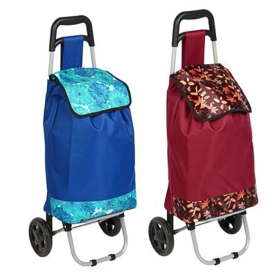 467-012 Тележка + сумка, грузоподъемность до 30кг, брезент, ЭВА, 36х26х94см, колесо d15см, WQ-111
