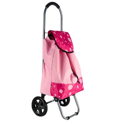 467-021 Тележка + сумка, грузоподъемность до 15кг, брезент, ЭВА, 30х22х86см, колесо d15см, FT-201S