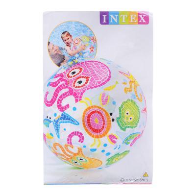359-197 Надувной мяч INTEX 58021 Морские обитатели d. 51 см, 3 дизайна
