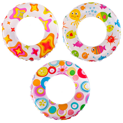 359-204 Надувной круг INTEX 58229 d. 61 см 3 вида, от 6 до 10 лет