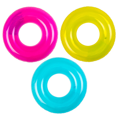 359-211 Надувной круг INTEX 59260 Прозрачный d. 76 см 3 цвета, от 8 лет