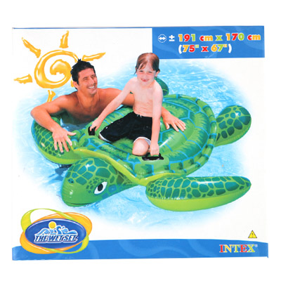 359-250 INTEX Игрушка для катания верхом Морская черепаха, от 3 лет, 191*170см, 56524