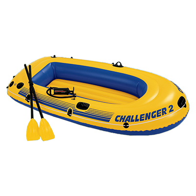 359-323 Лодка надувная, 3 камеры, весла, насос, 236х114х41 см, до 170 кг, INTEX Challenger 2 Set, 68367
