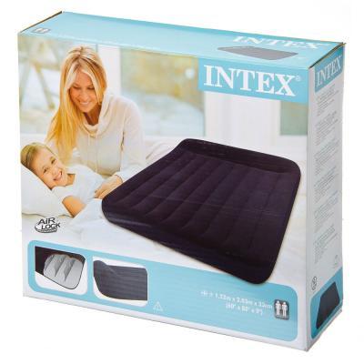 359-357 INTEX Кровать флок Pillow Rest Classic, 152x203x23см, 66769