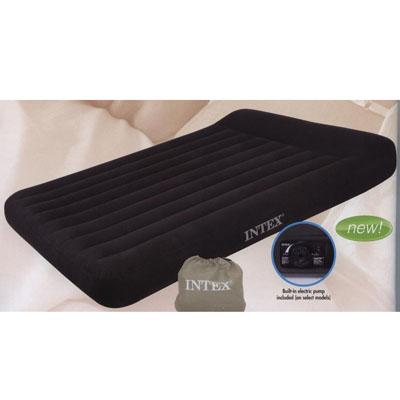359-360 INTEX Кровать флок Pillow Rest Classic, 137x191x23см, встр.эл.насос, 66780