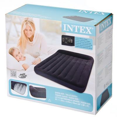 359-361 INTEX Кровать флок Pillow Rest Classic, 152x203x23см, встр. элнасос, 66781