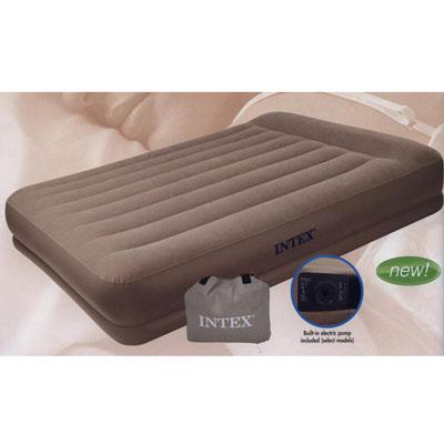 359-365 INTEX Кровать флок Pillow Rest Mid-Rise, хаки, 152*203*38см 67746