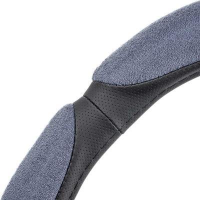 708-377 NEW GALAXY Оплетка руля, спонж, 6 подушек, серый, разм. (M)