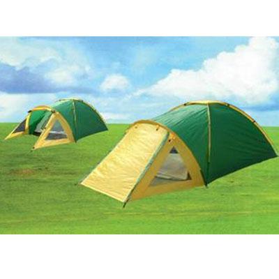 122-368 Палатка 4-мест., 2-сл., 210+100x210x130см, (190 Т PU1000мм/170Т, тр. фб 7,9мм, дн.PE), NX-T021