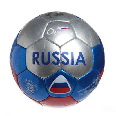 """336-188 Мяч футбольный 5"""" Russia multi, ПУ 4сл. 420гр, 2020/В"""