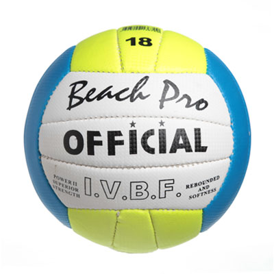 336-196 Мяч волейбольный BEACH PRO OFFICIAL, PU 1008 oficial size