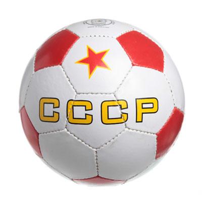 """133-200 Мяч футбольный 5"""" CCCР, ПВХ, 2сл. 270гр, 182"""