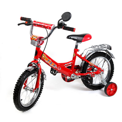 "195-373 Велосипед 12"" Maxxpro V2-12, комб. тормоз, красный"