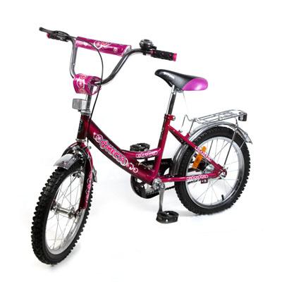 "195-381 Велосипед 16"" Maxxpro V2-16, комб. тормоз, фиолетовый"