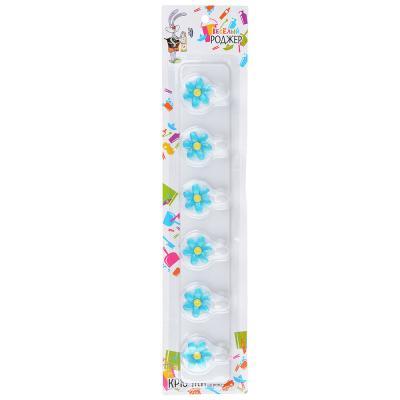 440-033 Крючки для полотенец на планке 6 шт, пластик,2 цвета, ВЕСЕЛЫЙ РОДЖЕР WF-878
