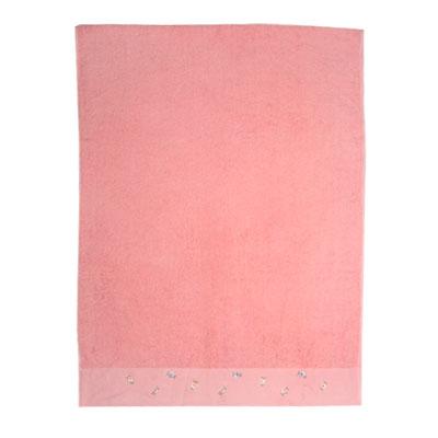 484-017 VETTA Полотенце банное с вышивкой 70x130см, Мак