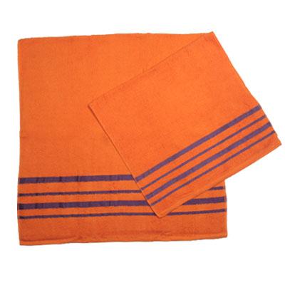 484-020 VETTA Набор полотенец 2шт банных 50x90см + 70x140см, Оранж
