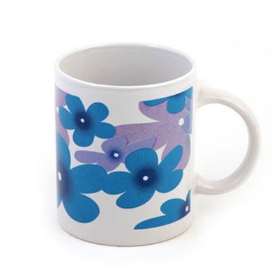 806-252 Кружка, 320мл, Синие цветы ZHK1054