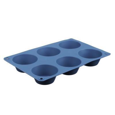 891-001 Форма для выпечки, 6 ячеек, силикон, 24.5х16.5x3 см, VETTA