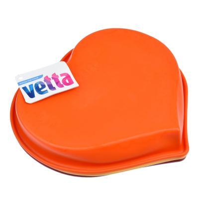 """891-010 Форма для выпечки, силикон, 25x22x4,5 см, VETTA """"Сердце"""""""