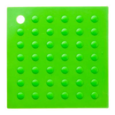 891-034 Подставка под горячее термостойкая квадратная, силикон, 17,5x17,5 см, VETTA