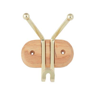440-118 VETTA Крючок настенный двойной, 11x12,5x6,8см, 2 цвета, арт.AE-914